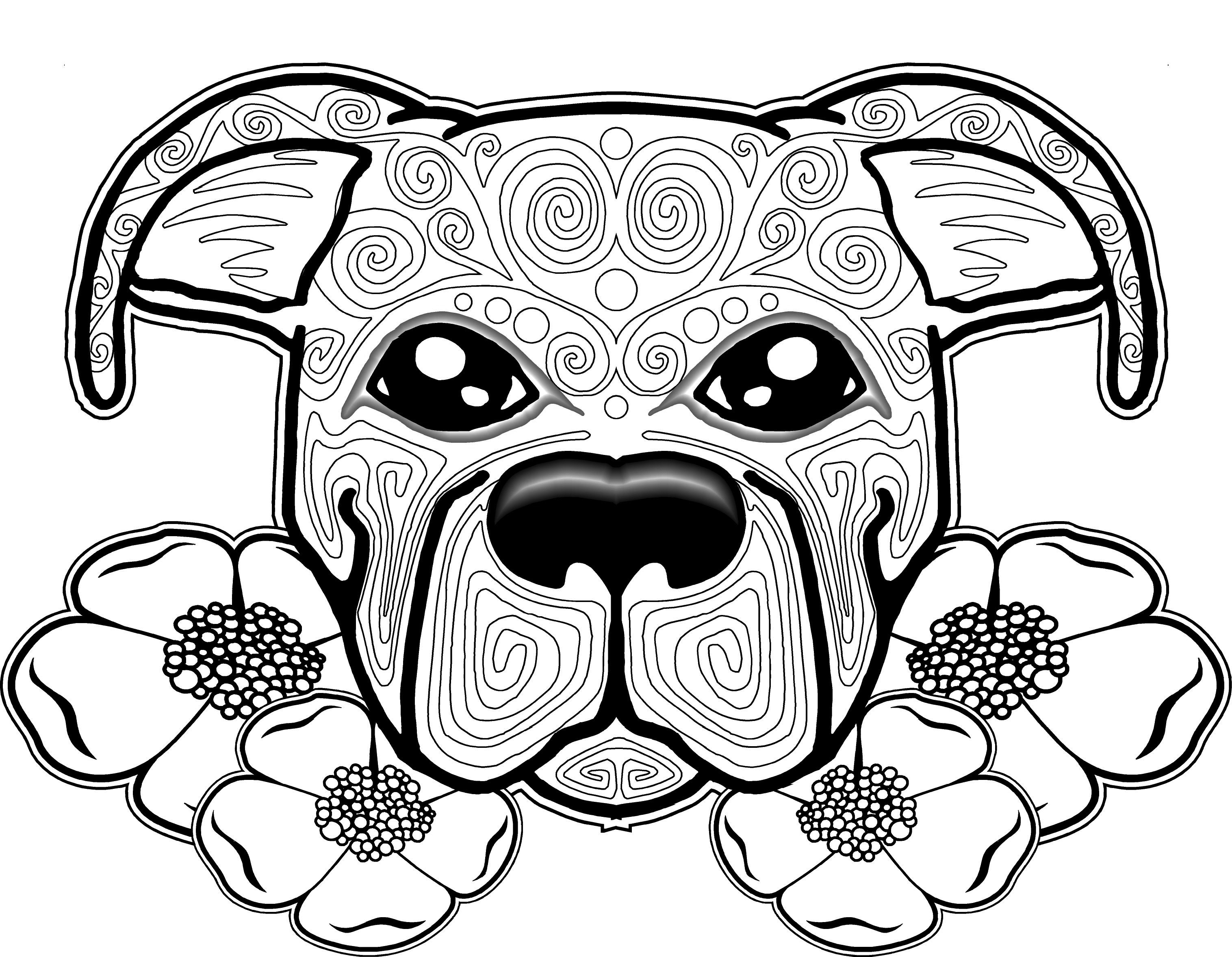 3032x2356 Dog Coloring Pages For Adults