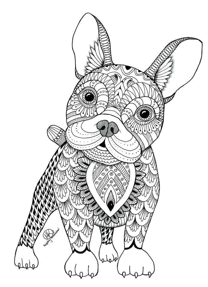 695x960 Dog Coloring Pages For Adults Together With Ideas About Mandala