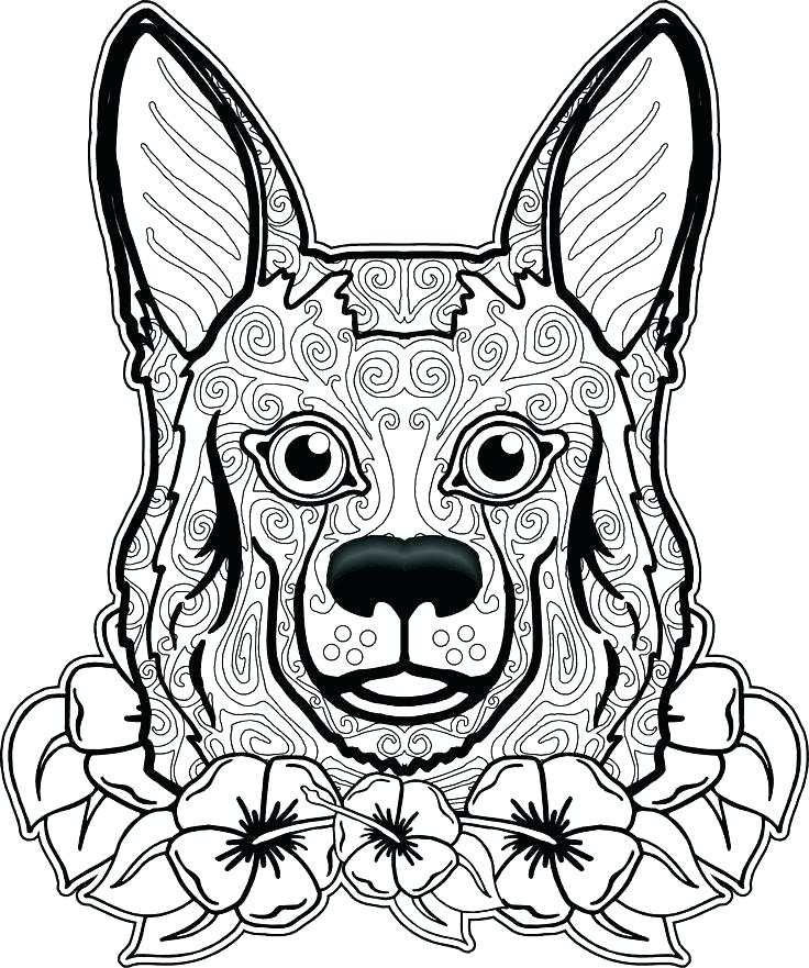 736x881 Coloring Dog Coloring Pages For Adults Tetra Animal Tang Adult
