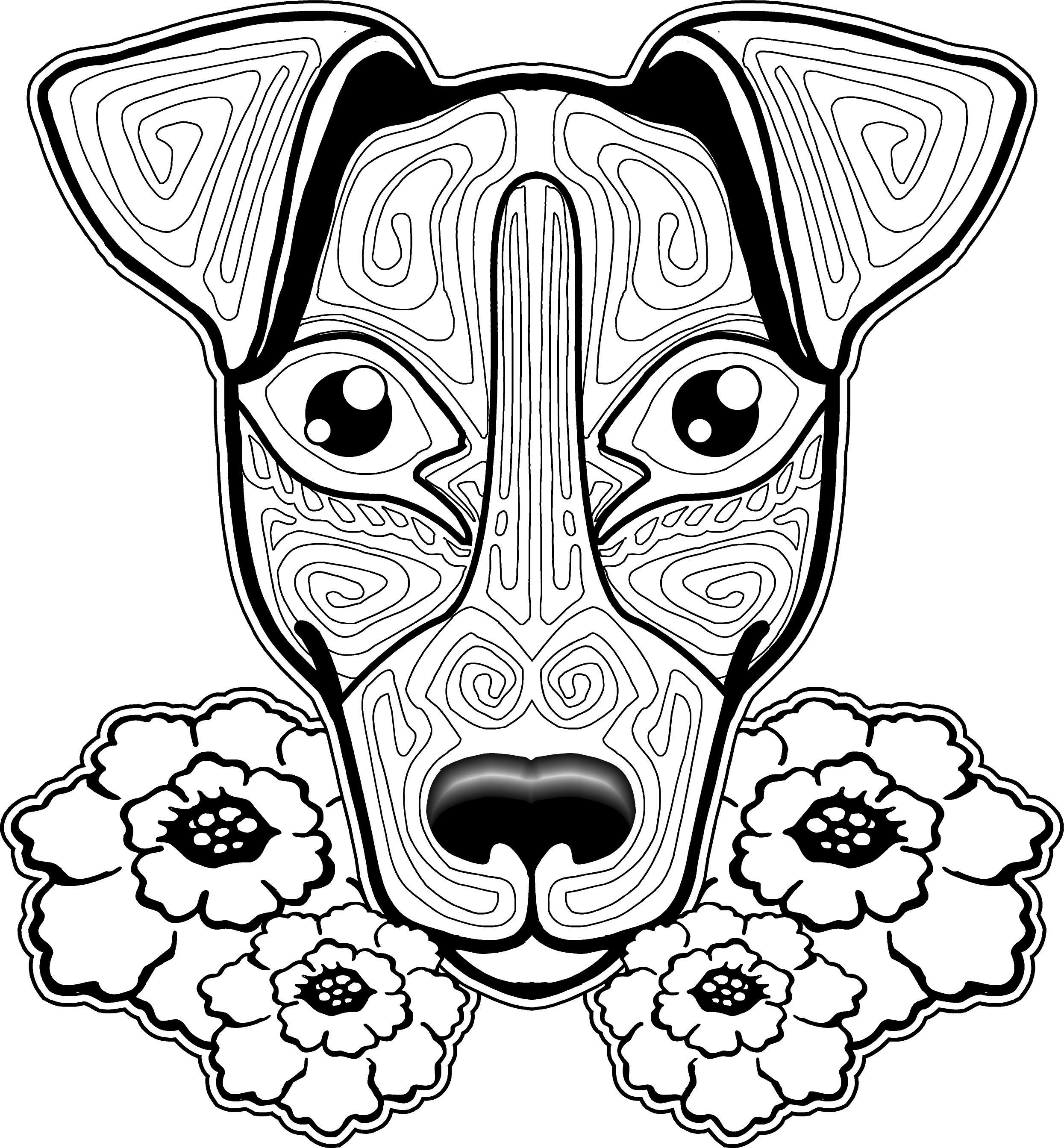 2490x2686 Dog Coloring Page, Dog Coloring Pages, Free Coloring Page, Free