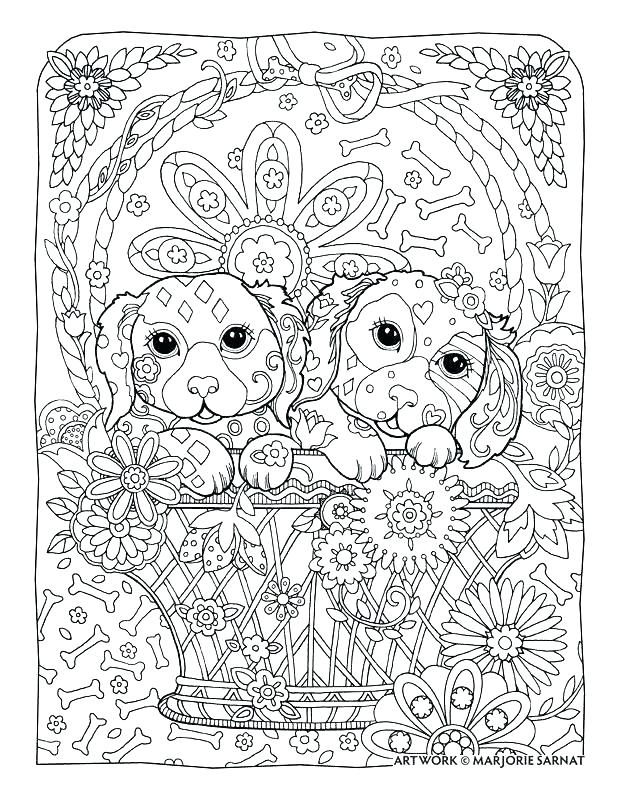 Dog Coloring Pages Adults At Getdrawings Com Free For Personal Use