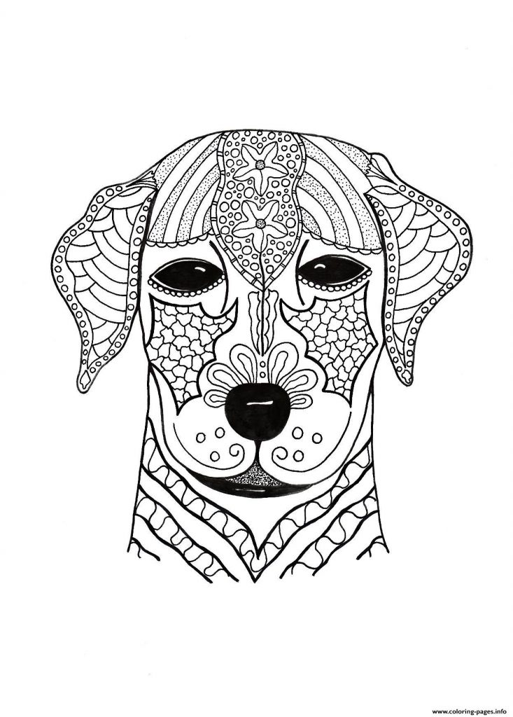 733x1024 Coloring Pages Adults Dogs