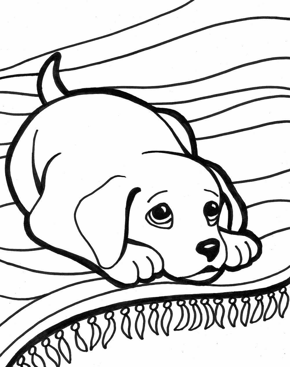 1000x1266 Coloring Pictures Of Dogs And Puppies New Unique Cute Dog Coloring