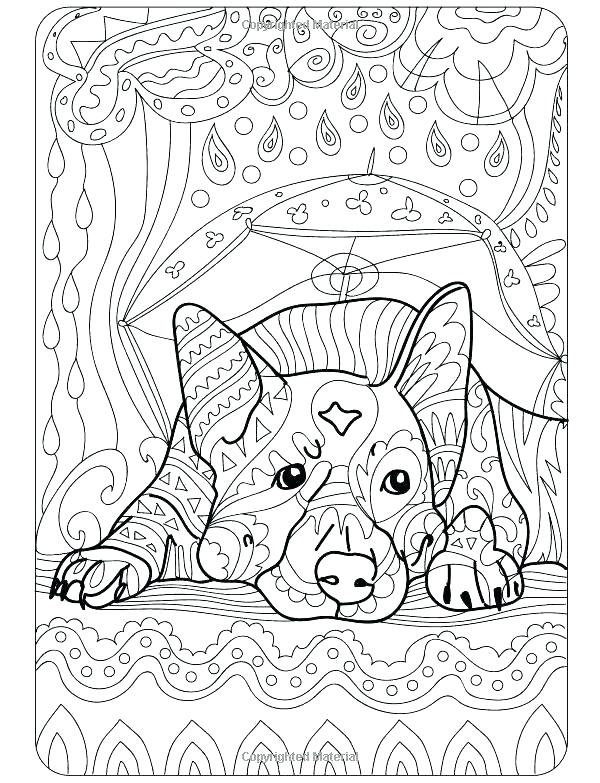 600x783 Coloring Pictures Of Dogs Dog Coloring Pages For Adults Free