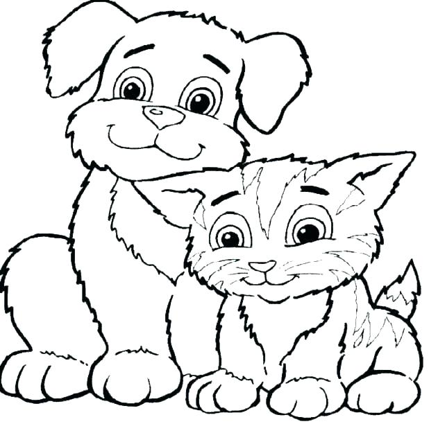 618x612 Dog Coloring Pages Printable Dogs Pictures To Color Dog Color