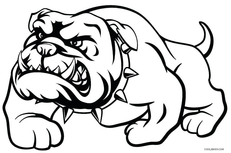 800x530 Georgia Bulldogs Coloring Pages Printable Dog Coloring Pages