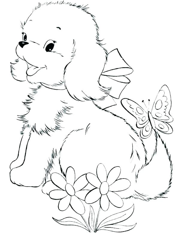 618x780 Puppy Coloring Pages For Kids