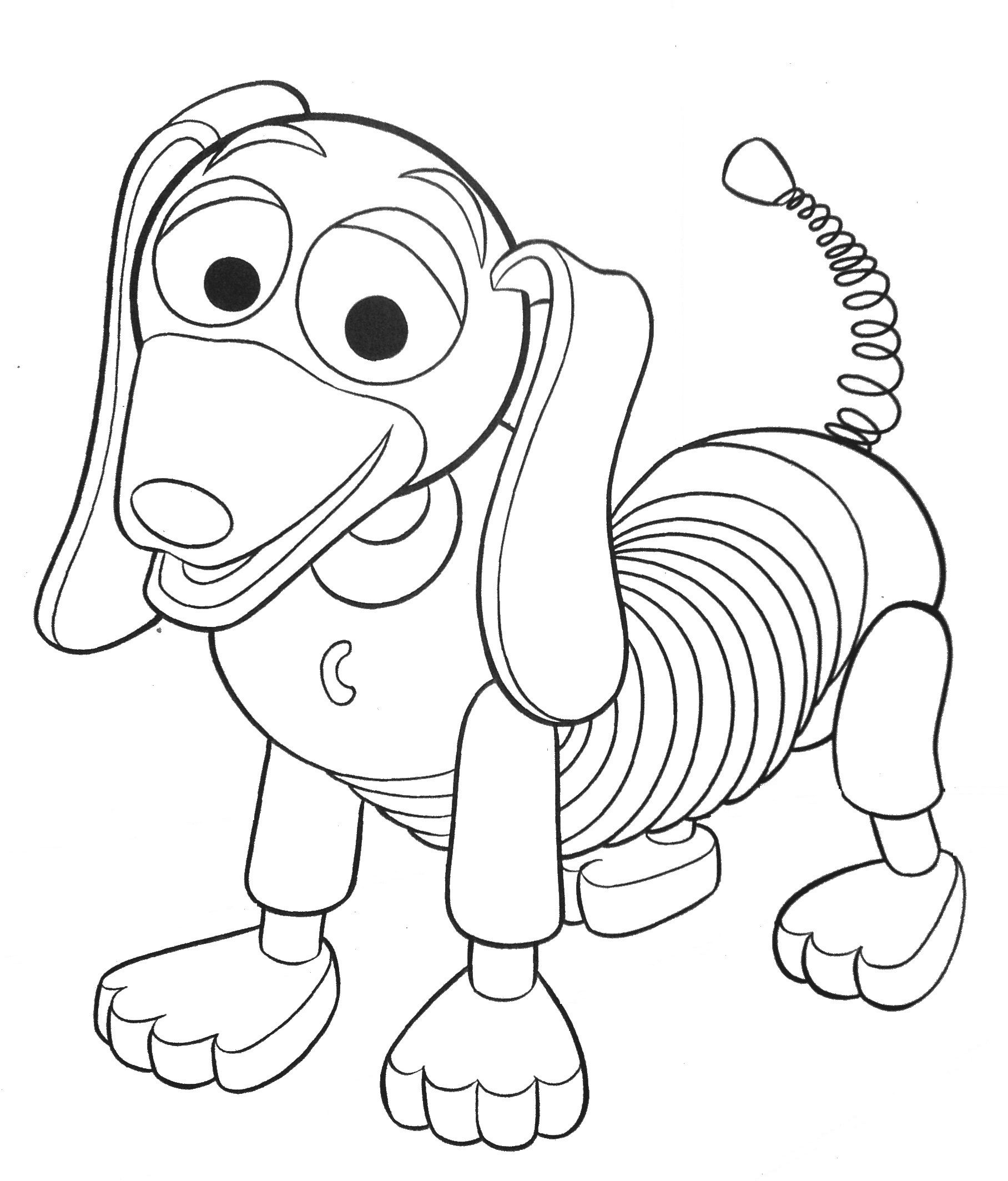 1816x2127 Improved Toy Story Coloring Pages Online Free Slinky Dog Kids