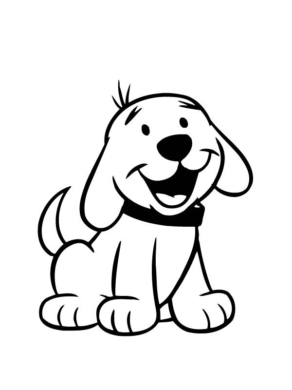 600x800 Cute Dog Coloring Pages For Preschool