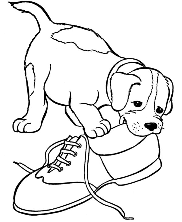600x734 Puppy Coloring Pages Dog Coloring Pages Free Printable Coloring