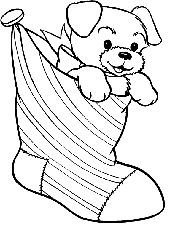 600x766 Christmas Dog Coloring Pages