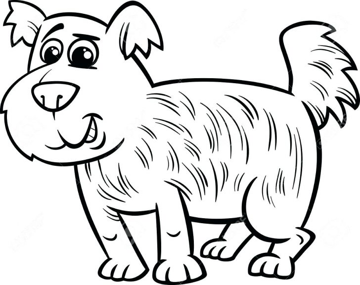 728x576 Chihuahua Dog Family Coloring Pages Black And White Cartoon