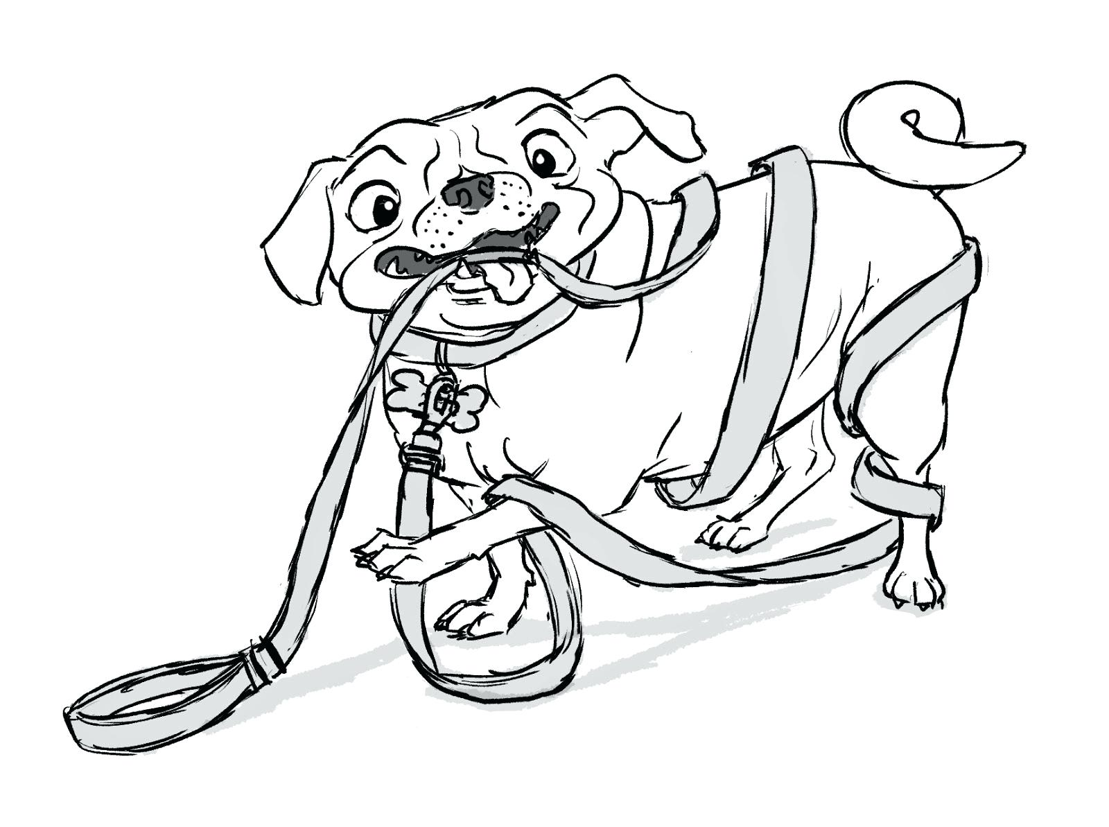 1600x1193 Marvelous Pug Coloring Pages Chihuahua Dog Family Kindergarten