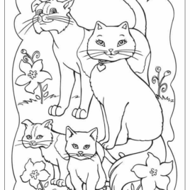 268x268 Animal Family Coloring Page Archives