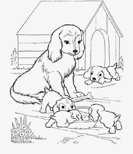 442x512 Her Dogs Colouring Pages, Dog Family Coloring Pages