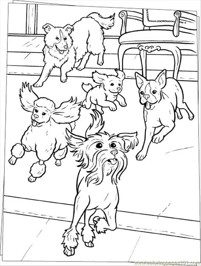 650x858 The Family Dogs Colouring Pages, Dog Family Coloring Pages