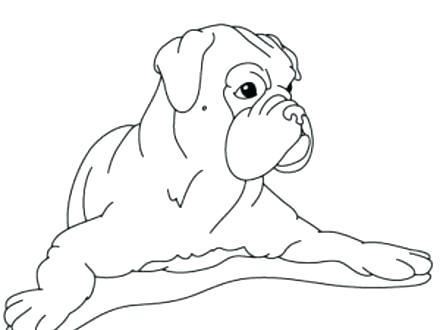 440x330 Boxer Coloring Pages Boxer Puppy Coloring Pages Boxer Dog Coloring