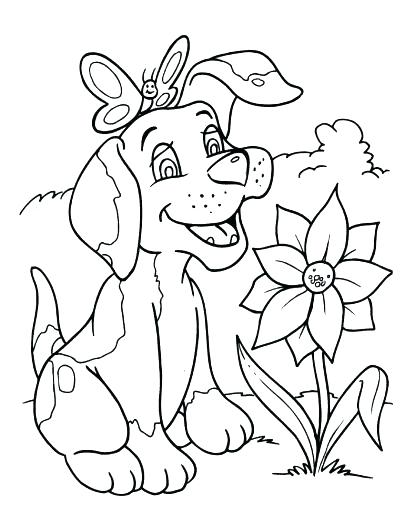 405x525 Coloring Pages To Print Dogs Pictures Puppy Sheets Of And Cats