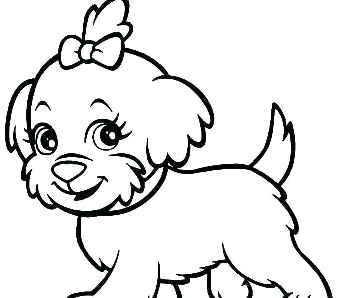 678x600 Dog Coloring Pages For Kids Dog Printable Coloring Pages Dog