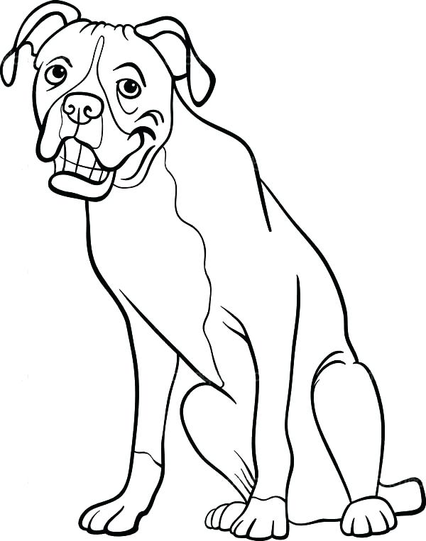 600x763 Dog Coloring Pages For Kids Staggering Printable Boxer Dog