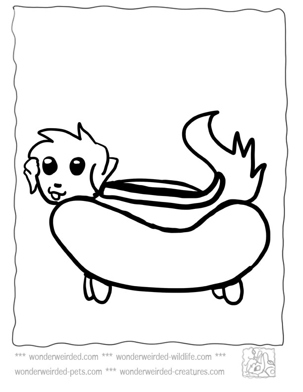 612x792 Hot Dog Coloring Pages
