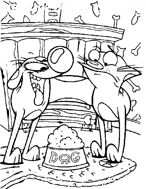 600x778 Catdog Eating Dog Food Coloring Pages Best Place To Color