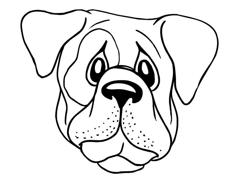 791x588 Dog Face Coloring Page