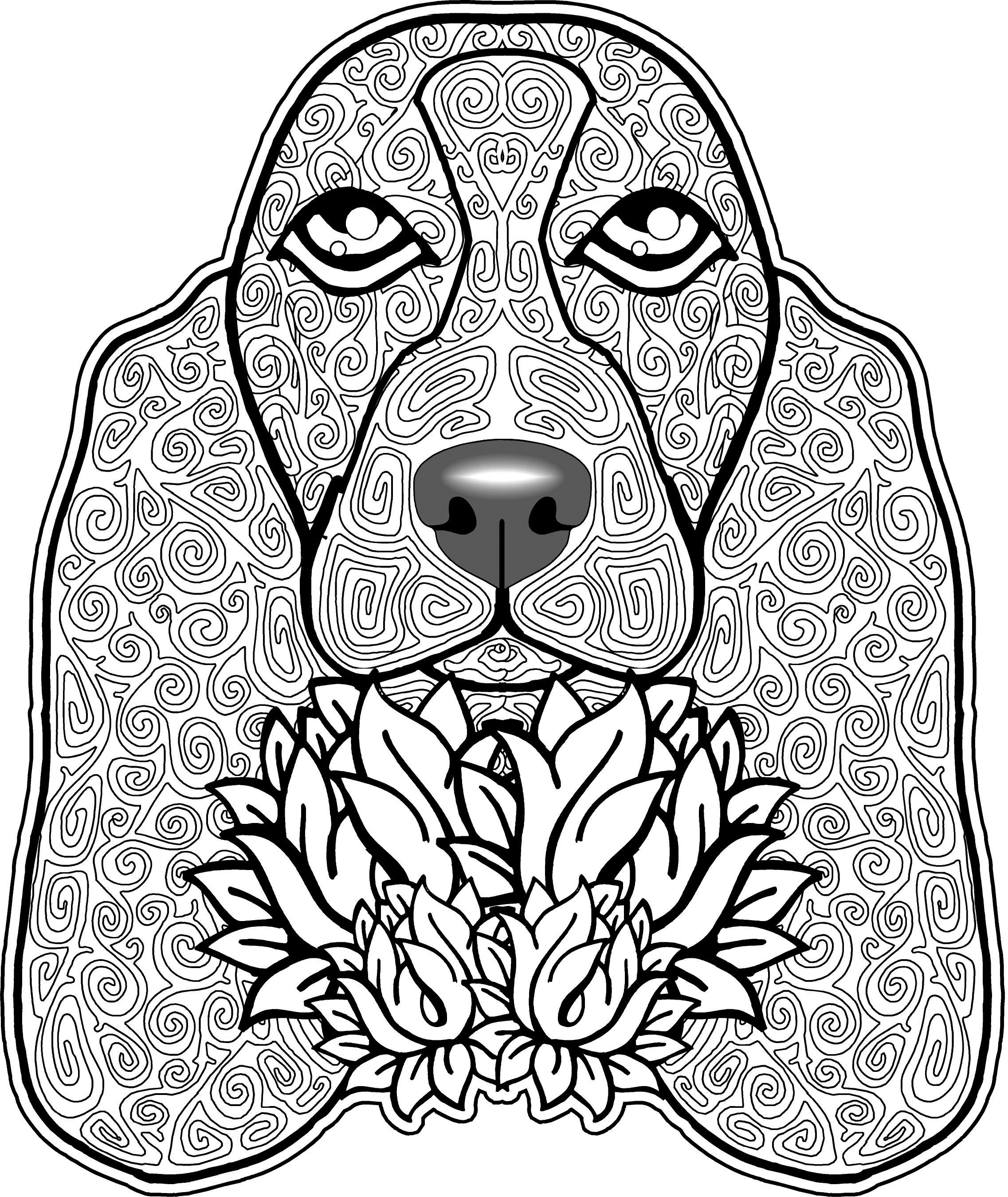2273x2698 Dog Head Bimdeedee Dogs Coloring Pages For Adults Justcolor Lovely
