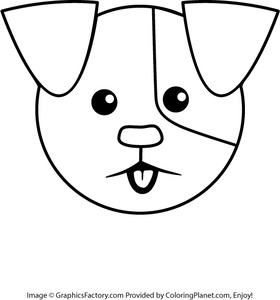 280x300 Free Puppy Head Coloring Page From Coloring