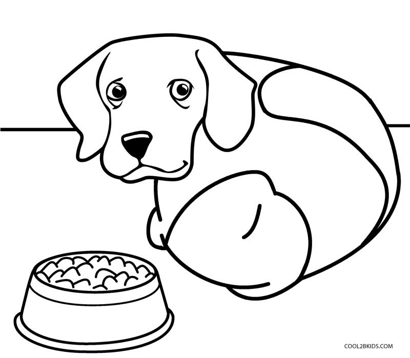 800x699 Printable Dog Coloring Pages For Kids