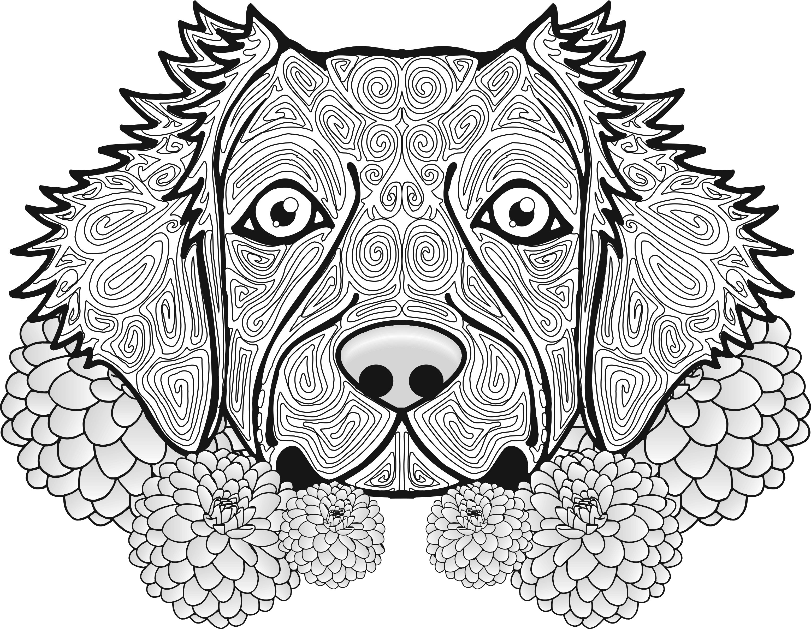 3107x2411 Best Of Dog Mandala Coloring Pages Collection Printable Coloring