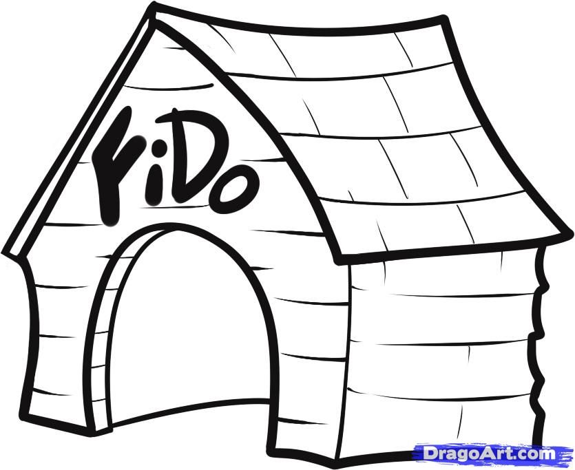 835x683 Dog House Coloring Page Az Coloring Pages Coloring Page Of Dog
