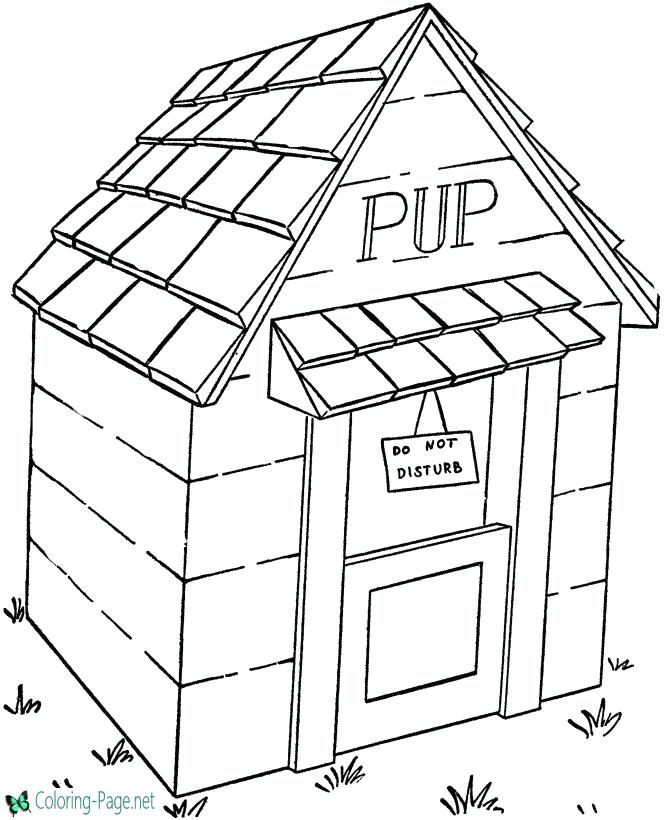 670x820 Dog House Coloring Pages Dog House Coloring Page Beautiful Dog
