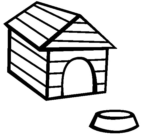 505x470 Dog House Coloring Page