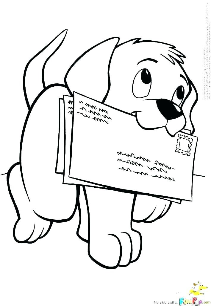 709x1024 Coloring Page Of Dog
