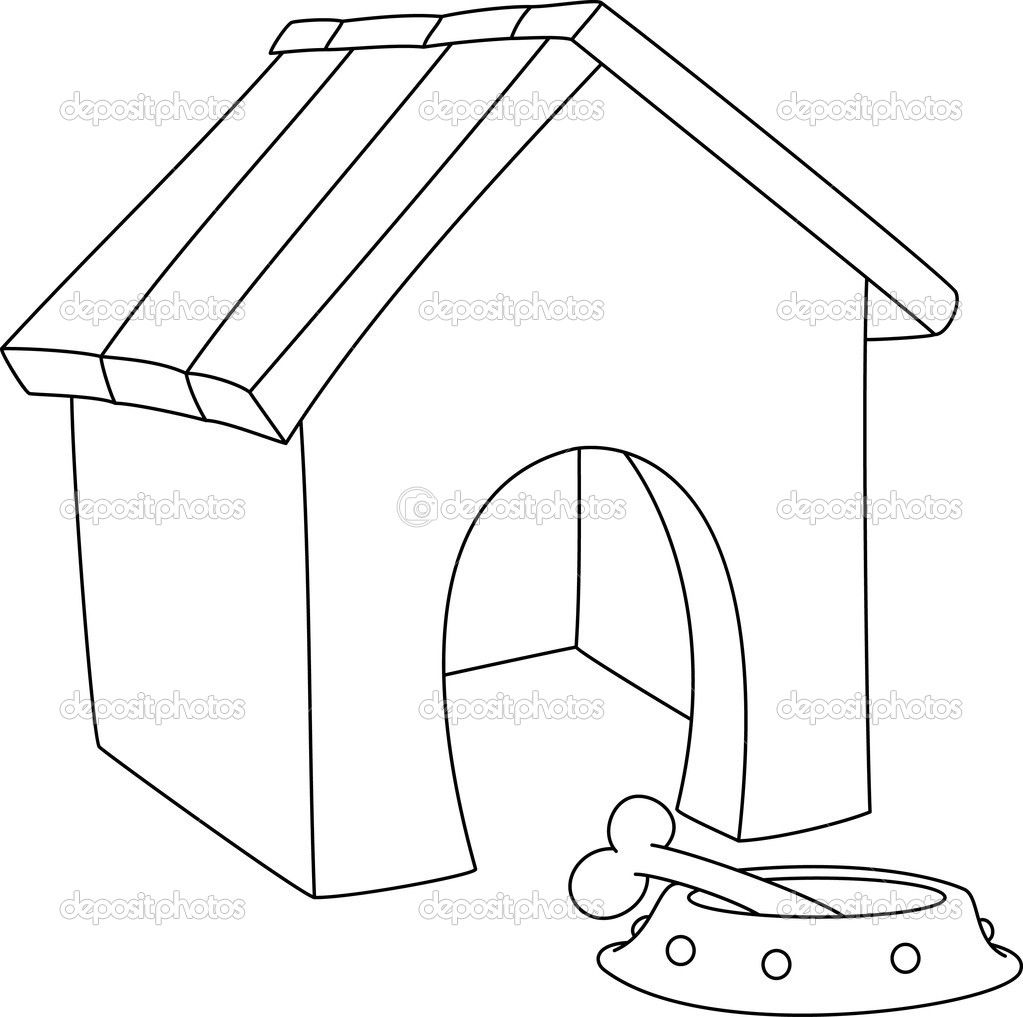 1023x1017 Depositphotos Illustration Of A Dog House Outlined