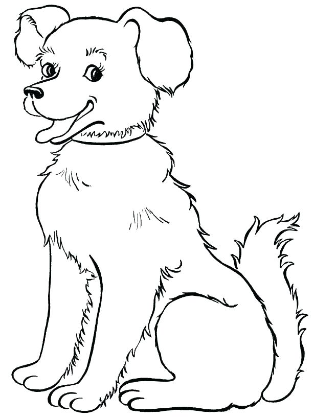 614x820 Dog House Coloring Page
