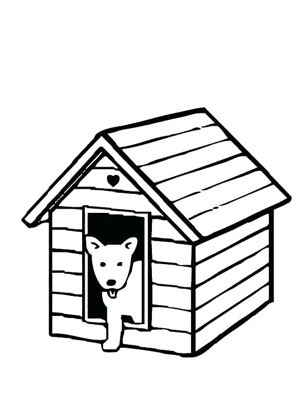 600x776 Dog House Coloring Page