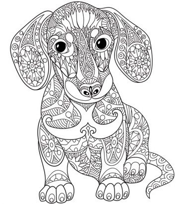 363x411 Dog Mandala Coloring Pages Pin Jill Fosnow On Coloring Pages