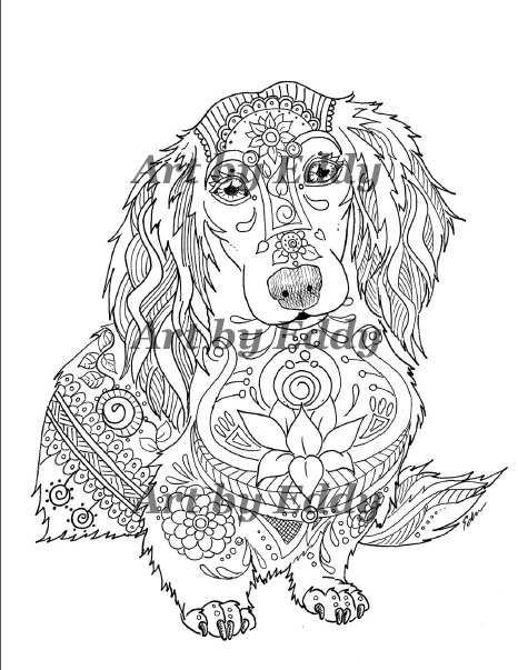 466x603 Art Of Dachshund Coloring Book Volume No Downloadable
