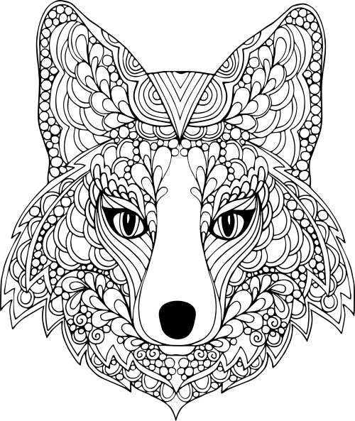 500x593 The Face Of The Dog Free Coloring Page Paulo Coelho, Adult
