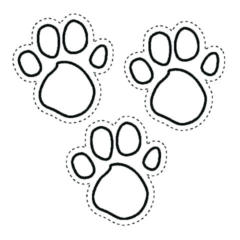 480x480 Stunning Paw Print Coloring Page Paw Print Coloring Pages Stunning