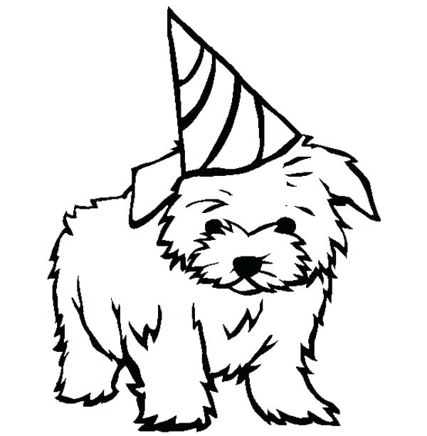 600x612 Puppy To Color Small Dog Coloring Pages Puppy Terrier For Your
