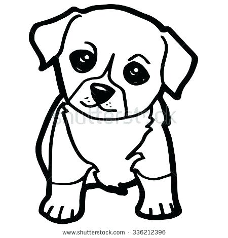 450x470 Cute Cartoon Dog Coloring Pages