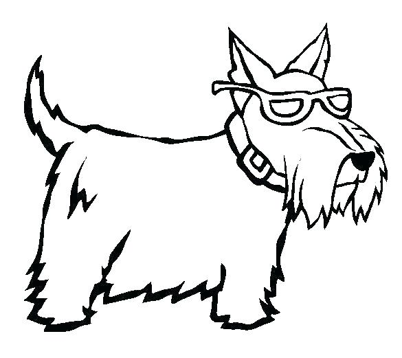 585x521 Coloring Pages Of A Dog Cartoon Dog Coloring Pages A Coloring