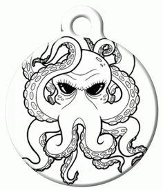 236x276 Cycloptopus Coloring Book Page, Adult Coloring, Cyclops Octopus