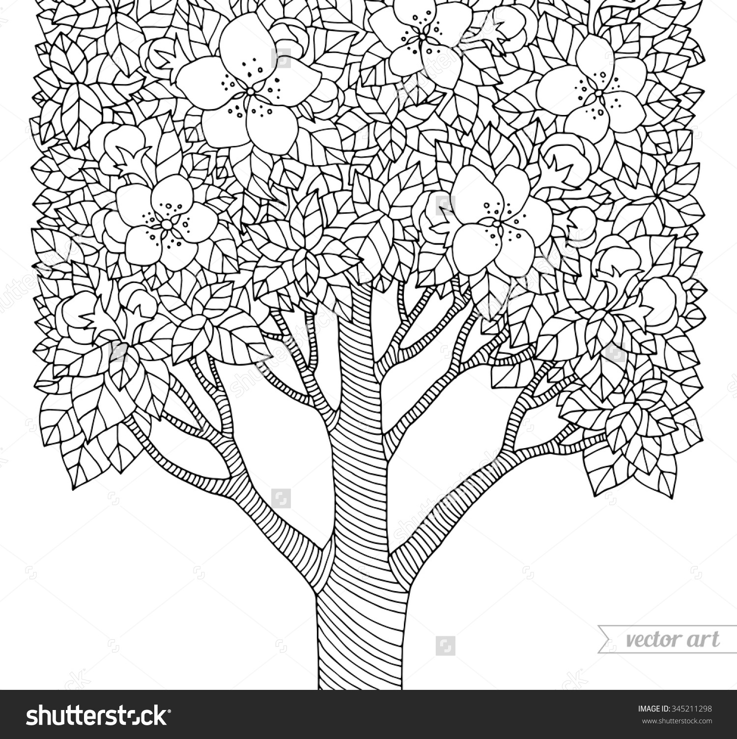 1500x1504 Coloring Pages Of Spring Trees Inspiration Flowering Dogwood Tree