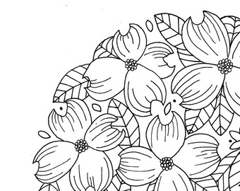 340x270 Dogwood Illustration Etsy
