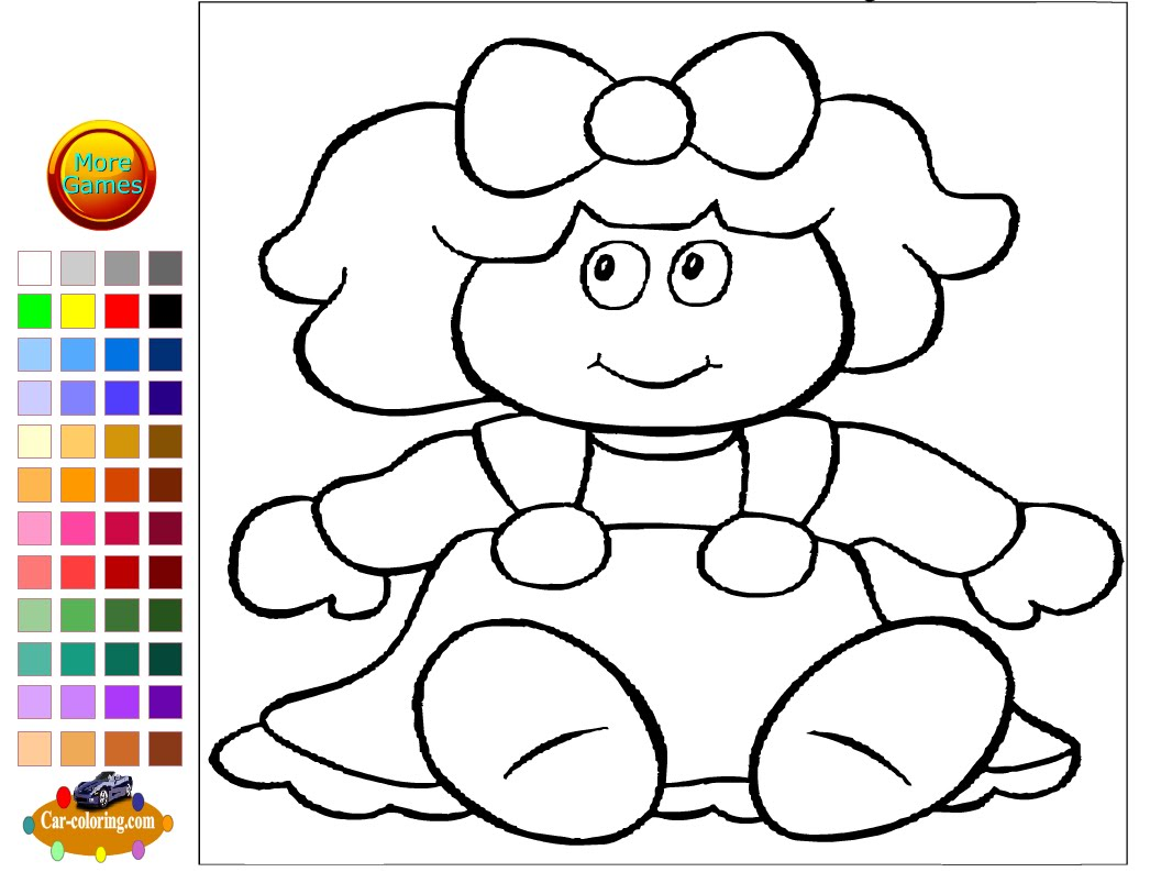 1046x793 Doll Coloring Pages For Kids