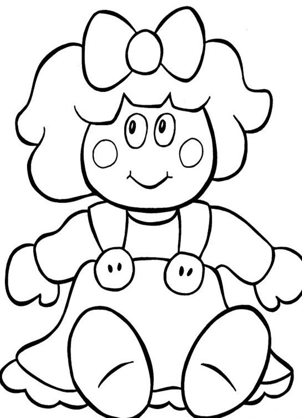 1023x1418 Doll Coloring Pages To Download And Print For Free Throughout